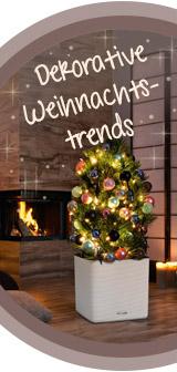 Dekorative Weihnachtstrends
